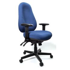 Buro Seating Persona Chair With Arms Blue Blue