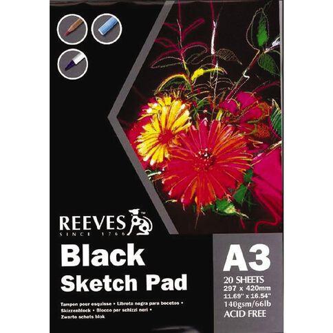 Reeves Sketch Pad Black 140 GSM Black A3