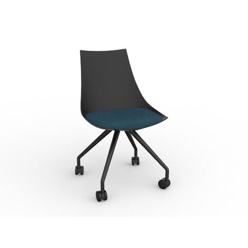 Luna Black Deep Blue Chair Black/Blue