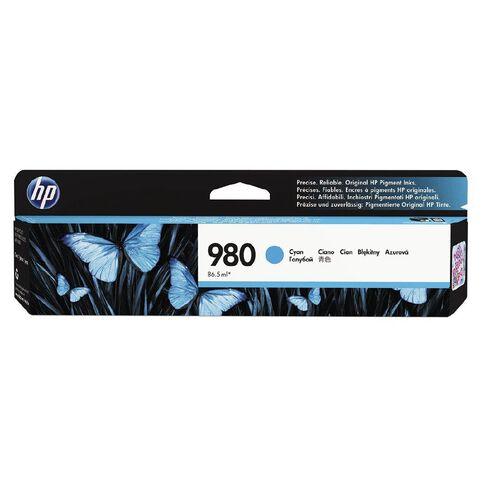 HP 980 Cyan Original Ink Cartridge (6600 Pages)