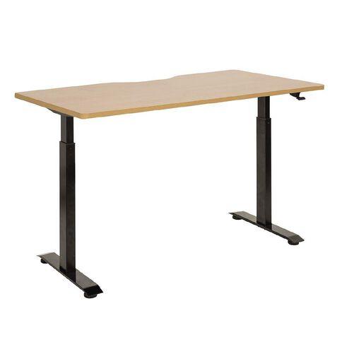 Jasper J Emerge Pneumatic Height Adjustable Scallop Desk 1500 Black/Beec