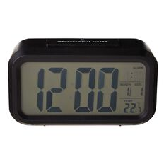 Living & Co Digital Alarm Clock 13.3 x 7cm Black