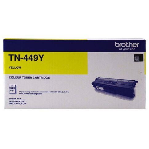 Brother Toner TN449Y Yellow (9000 Pages)
