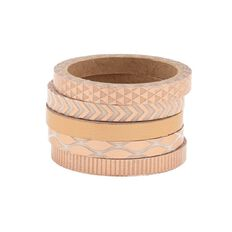 Uniti Washi Tape Thin 5 Pack Rose Gold