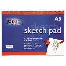 Jasart Sketch Pad Spiral 20 Sheets