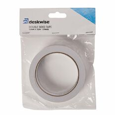 Deskwise Double Sided Tape 12mm x 20m 2 Pack