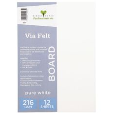 Direct Paper Via Felt 216gsm 12 Pack Pure White A4