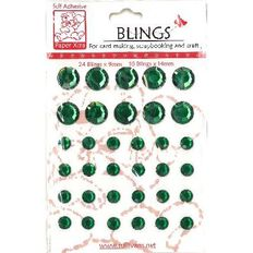 Blings Stick On Bling Green
