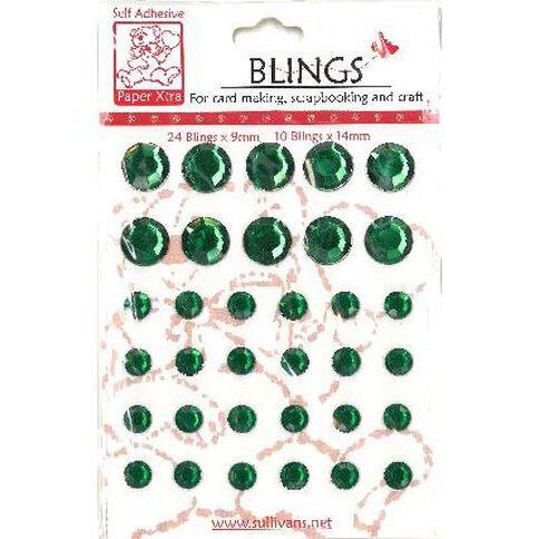 Blings Stick On Bling Green