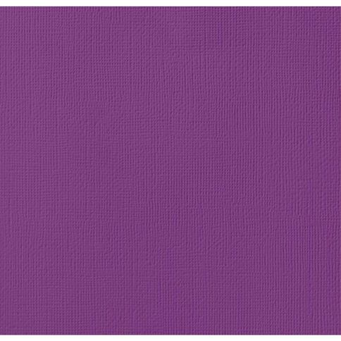 American Crafts Cardstock Textured Grape Purple 12in x 12in