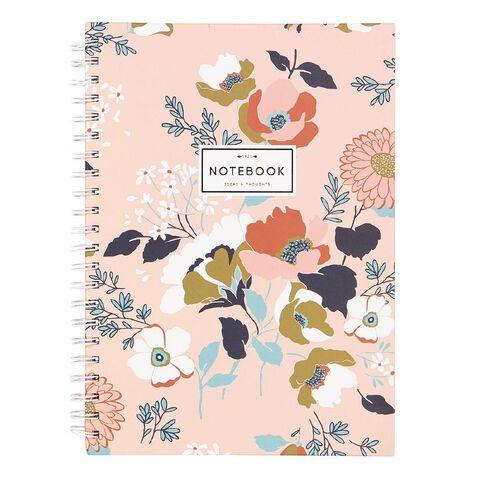 Uniti Winter Bloom Hardcover Notebook Spiral A4