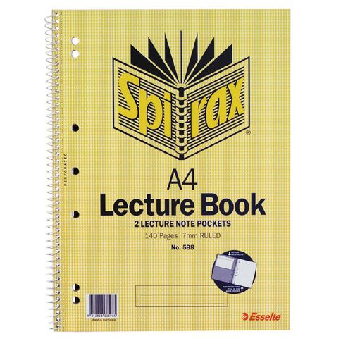 Spirax Lecture Book 7mm 70 Leaf Yellow A4