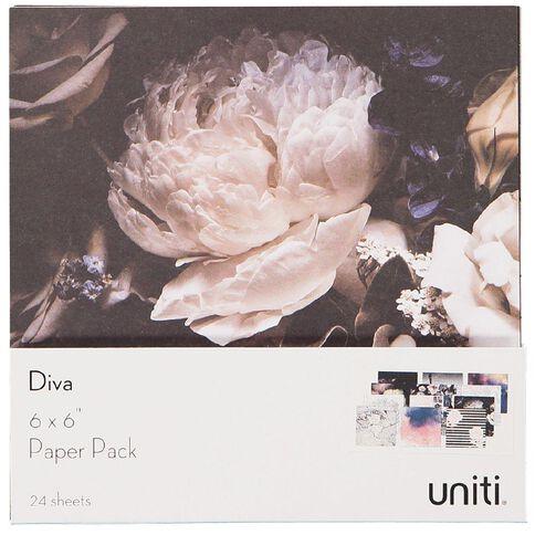 Uniti Diva Paper Pack 6in x 6in