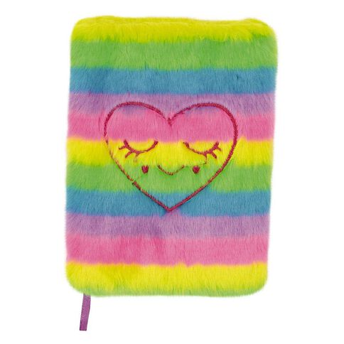 Kookie Fluffy Notebook Rainbow Heart A5