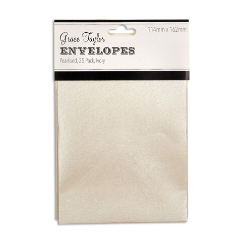Grace Taylor Envelopes Ivory C6 25 Pack White