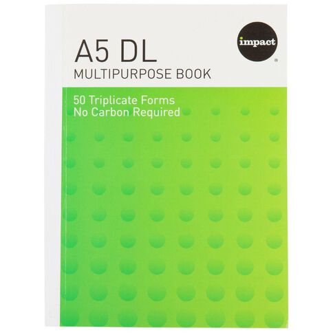 Impact Multibook Duplicate Ncr 50 Forms Green A5