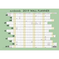 Eurobrands Wall Planner 2019 Laminated 297mm x 420mm A3