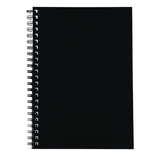 Spirax 512 Hard Cover Notebook So Black A4
