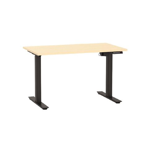 Agile Height Adjustable Electric Desk 1200 Nordic Maple/Black