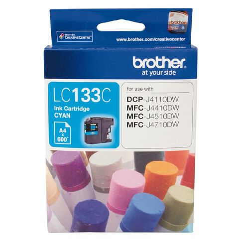 Brother Ink LC133 Cyan (600 Pages)
