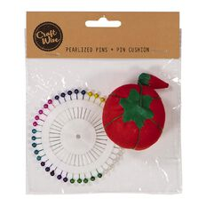 Uniti Pearlized Pins and Pin Cushion Multi-Coloured 40 Pack