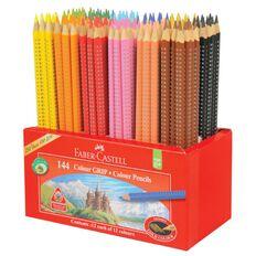 Faber-Castell Caddie 144 Colour Grip Colour Pencils Multi-Coloured