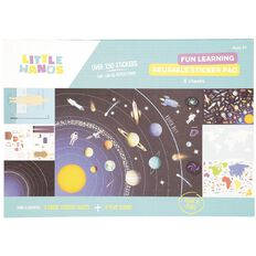 Little Hands Sticker Scene Pad Fun Learning Reusable A3
