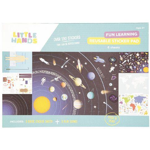 Little Hands Sticker Scene Pad Fun Learning Reusable A3