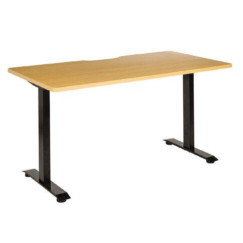 Jasper J Emerge Straight Scallop Desk 1500 BlkBch