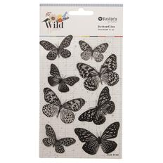 Rosie's Studio Wildflower Butterfly Stickers 8 Piece