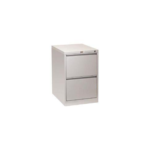 Workspace Filing Cabinet 2 Drawer Silver Grey