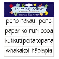 Learning Tool Box Magnetic NZ Maori Class Times Assorted