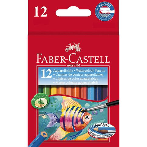 Faber-Castell Water Colour Pencils Half Size 12 Pack