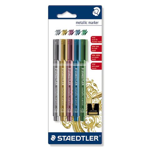 Staedtler Metallic Markers Blister Card 5 Assorted