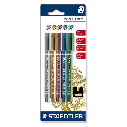 Staedtler Metallic Markers Blister Card 5