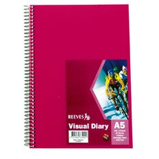 Reeves Visual Diary A5 Pink Pink A5
