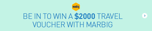Be in to win a $2000 travel voucher with Marbig